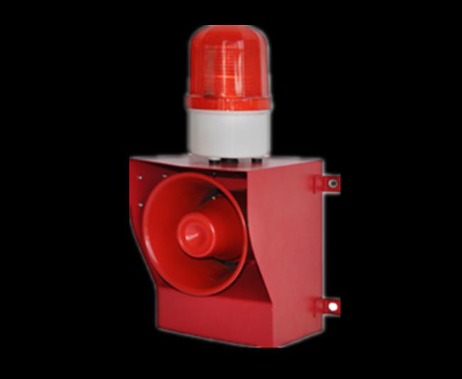 工业用声光报警器产品内芯采用先进的专用集成电路设计具有抗干扰能力强,工作稳定等特点;外型利用喷塑钢板材料,采用先进的工艺制作而成,结构设计新颖、美观、大方;闪光灯利用目前zui为流行的LED灯管制造而成,大大增强了灯管的使用寿命;同时本系列产品还具有重量轻、防水、抗强震、安装方便等优点。声光语言报警装置产品系列型号齐全,用户可根据自身使用场合及要求选择音调及语音报警方式。该型号适用于噪杂的工业现场或较空旷的矿上等场所。适用于起重机械、门吊、桥吊、行车以及冶金、矿山大型的安全警报装置。用户可根据自身使用场合