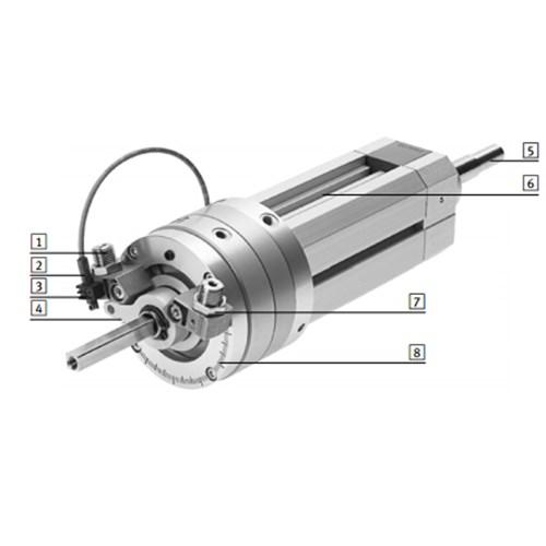 费斯托直线摆动组合气缸dsl-b系列  1 缓冲 2 位置感测 3 传感器支架图片