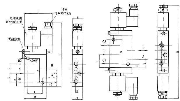 3,电磁阀的副阀控制线(em2)接接线板上to端子(或接电机控制板上的mt图片