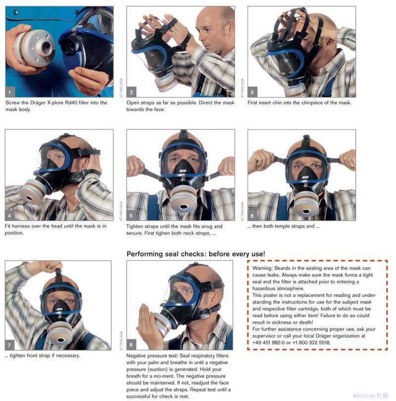 防毒面具佩戴方法