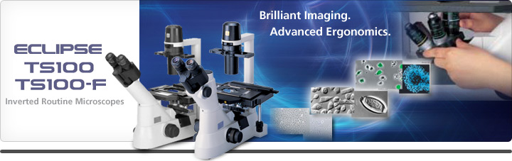 <strong>日本尼康ECLIPSE TS100/TS100-F倒置显微镜 生物显微镜价格</strong>