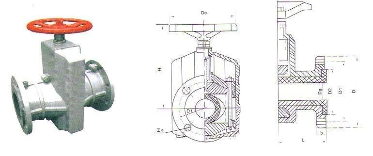 铝合金管夹阀结构图